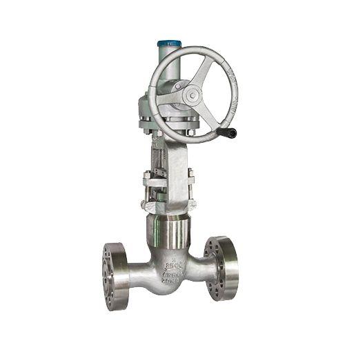 Válvula de globo con sello de presión